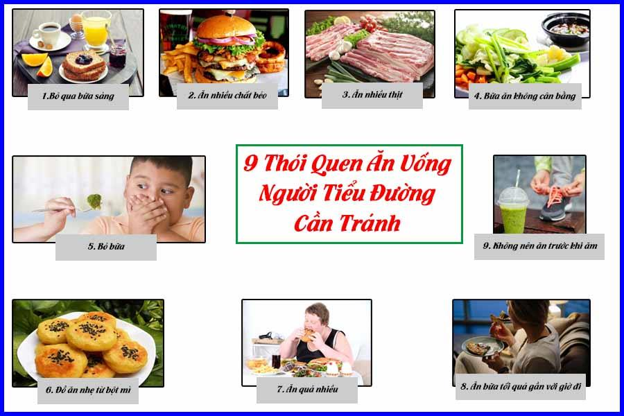 Thói quen ăn uống không tốt khi bị tiểu đường