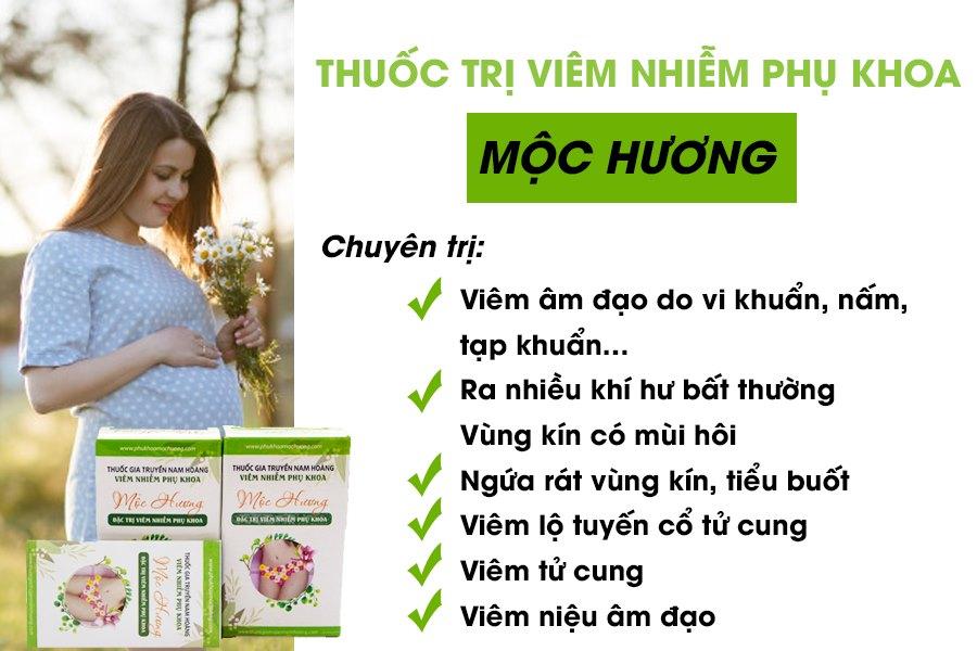 Thuốc trị viêm nhiễm phụ khoa Mộc Hương