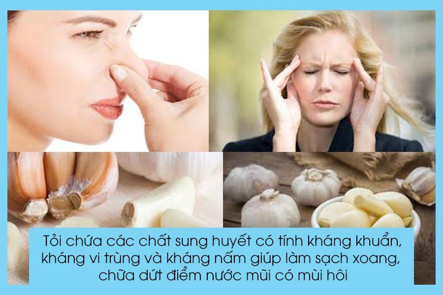 Tỏi trị nước mũi có mùi hôi hiệu quả