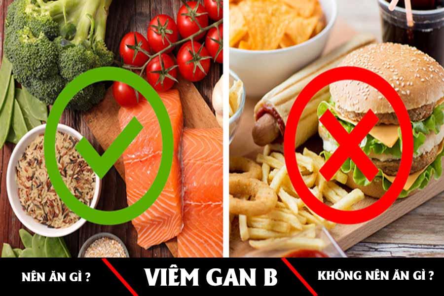 Viêm gan b ăn và không nên ăn gì