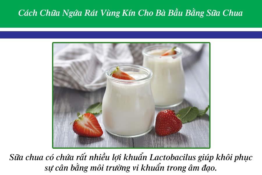 Cách chữa ngứa rát bằng sữa chua