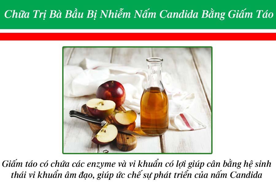 Trị bà bầu bị nhiễm nấm Candida bằng giấm táo