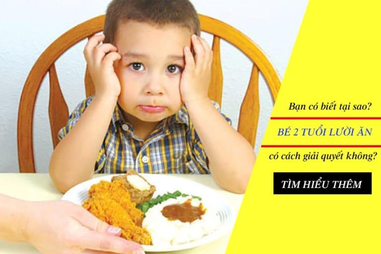 Bé 2 tuổi lười ăn