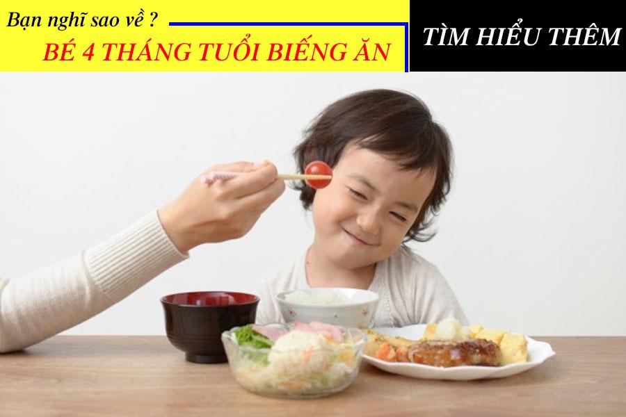Bé 4 tuổi biếng ăn