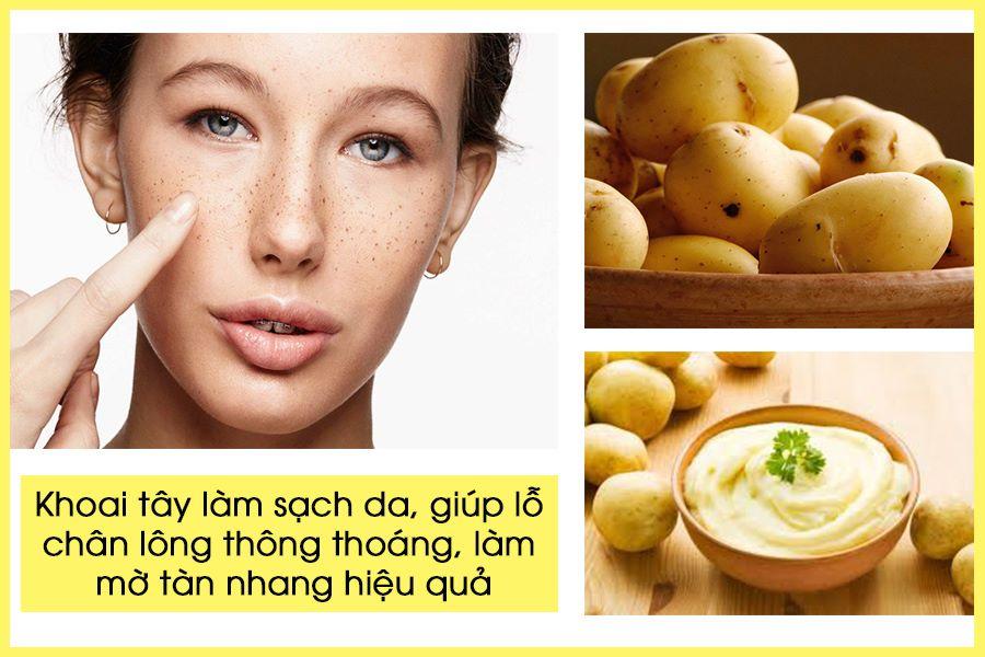 Cách tẩy tàn nhang với khoai tây