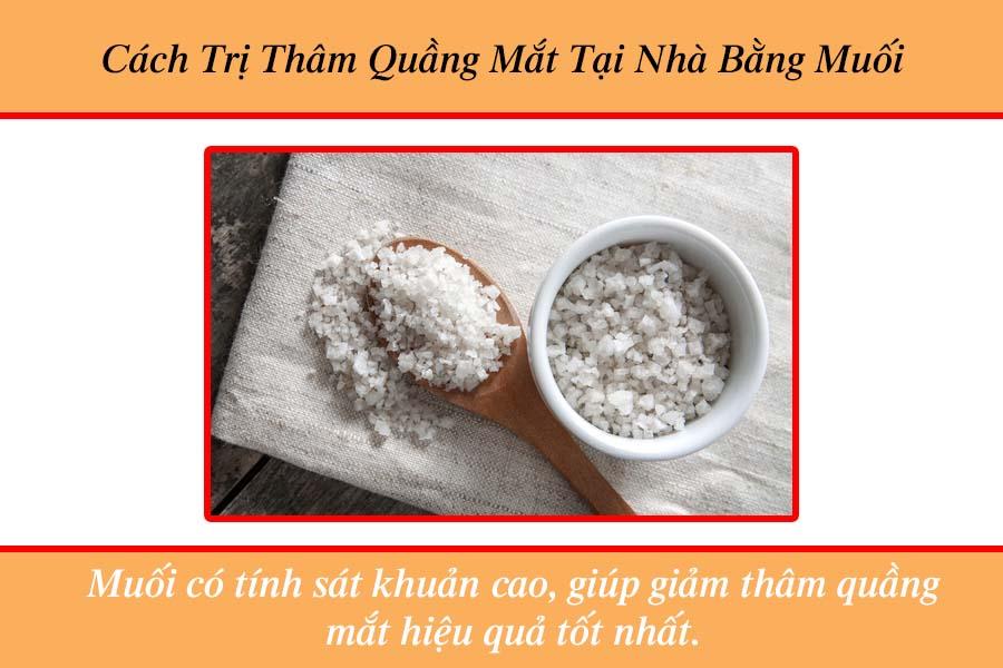 Cách trị thâm quầng mắt tại nhà bằng muối