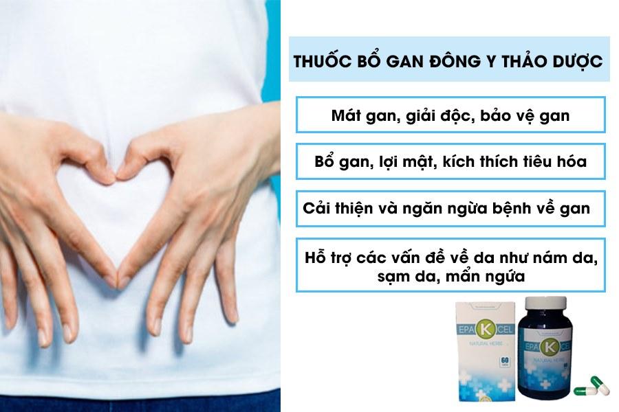 Công dụng của thuốc bổ gan Đông y thảo dược
