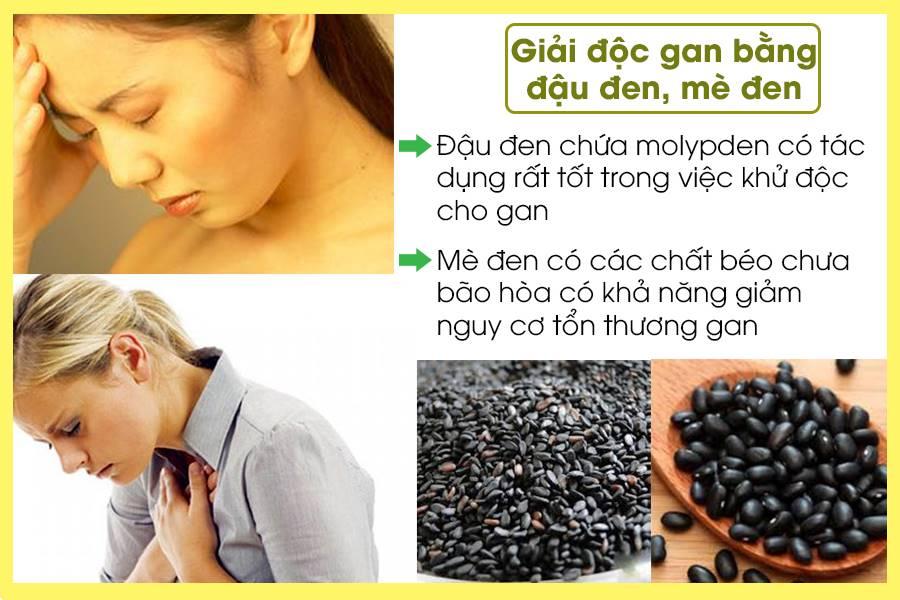 Giải độc gan bằng đậu đen mè đen