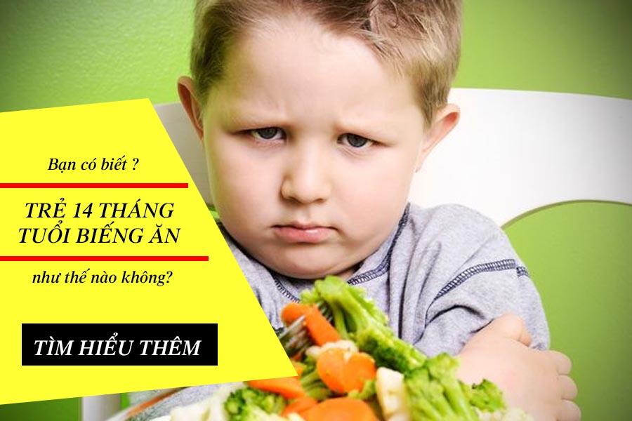 Trẻ 14 tháng tuổi biếng ăn