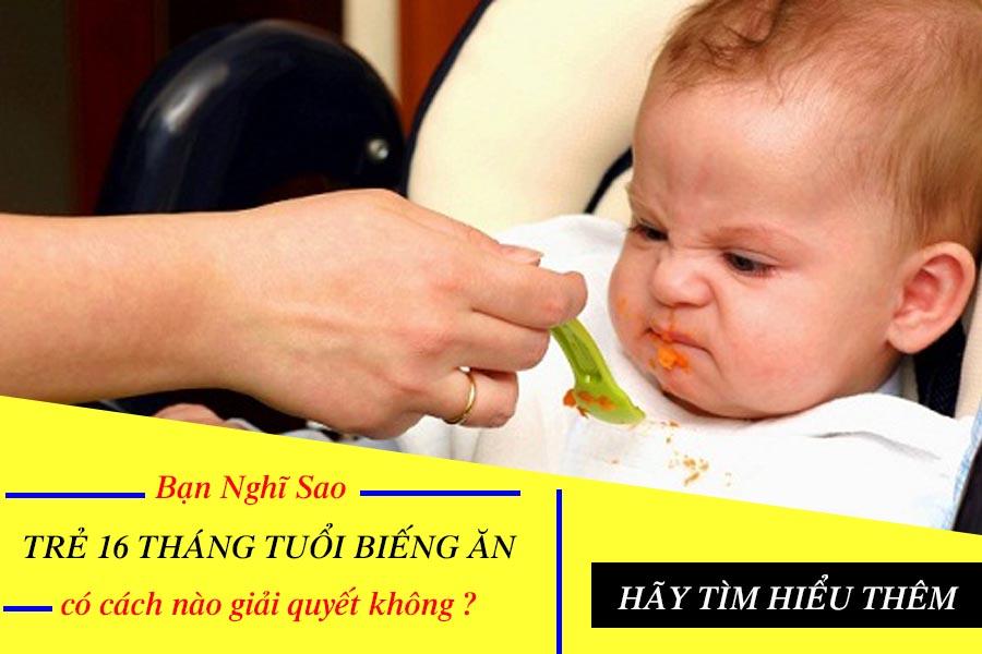 Trẻ 16 tháng tuổi biếng ăn