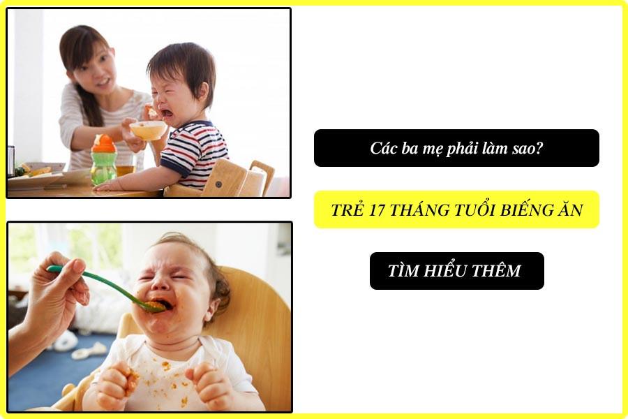 Trẻ 17 tháng tuổi biếng ăn
