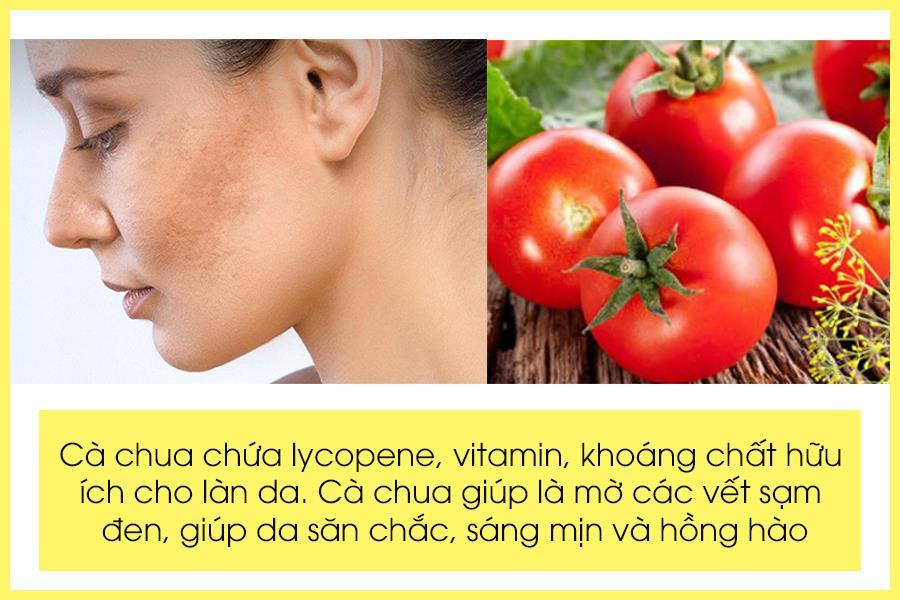 Trị da mặt bị sạm đen với cà chua