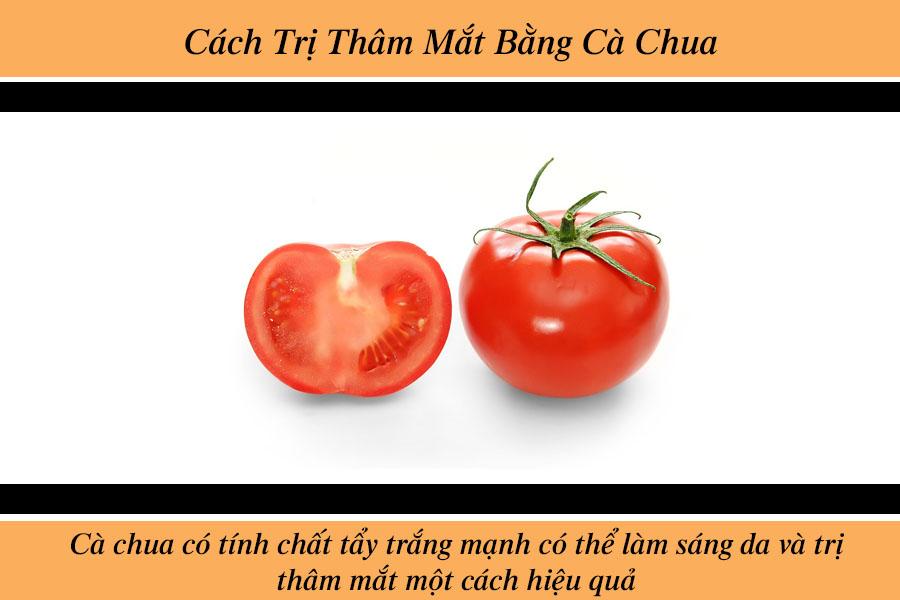 Trị thâm mắt bằng cà chua