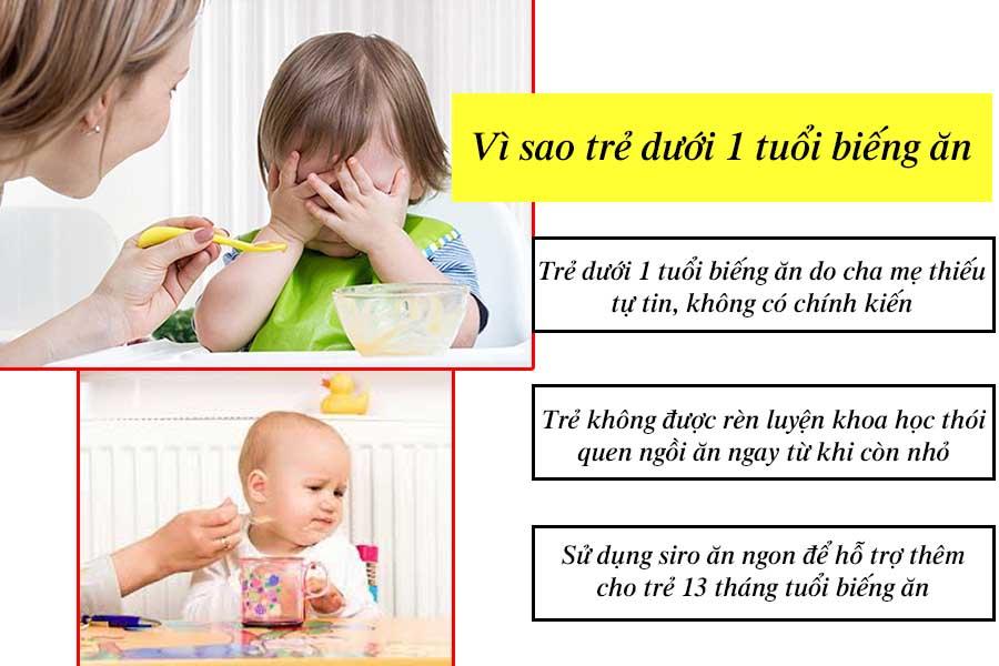 Vì sao trẻ dưới 1 tuổi biếng ăn