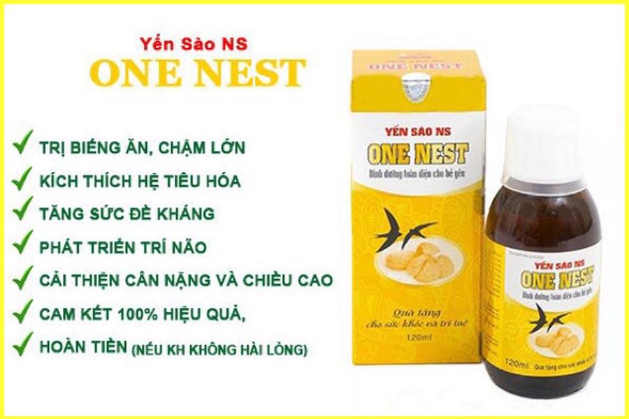 Yến sào one nest giúp trẻ hết biếng ăn