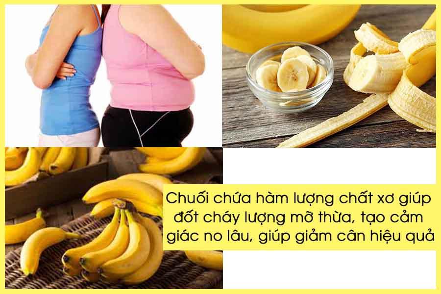 Ăn chuối giảm cân giảm lượng mỡ thừa