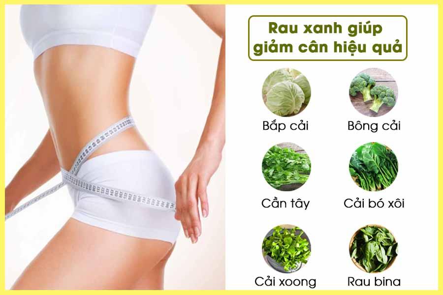 Ăn rau giảm cân với một số loại rau xanh