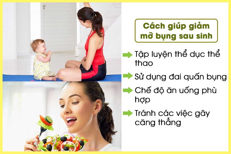 Những cách giảm mỡ bụng sau sinh