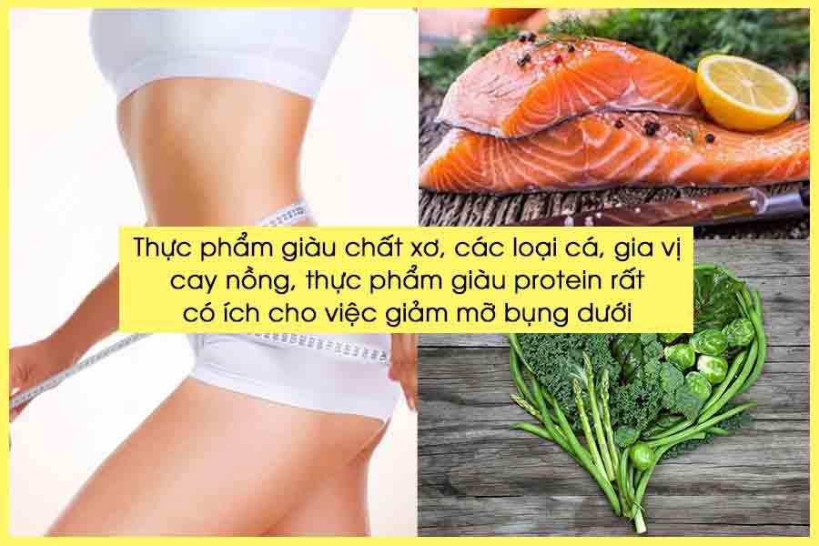Thực phẩm giúp giảm mỡ bụng dưới