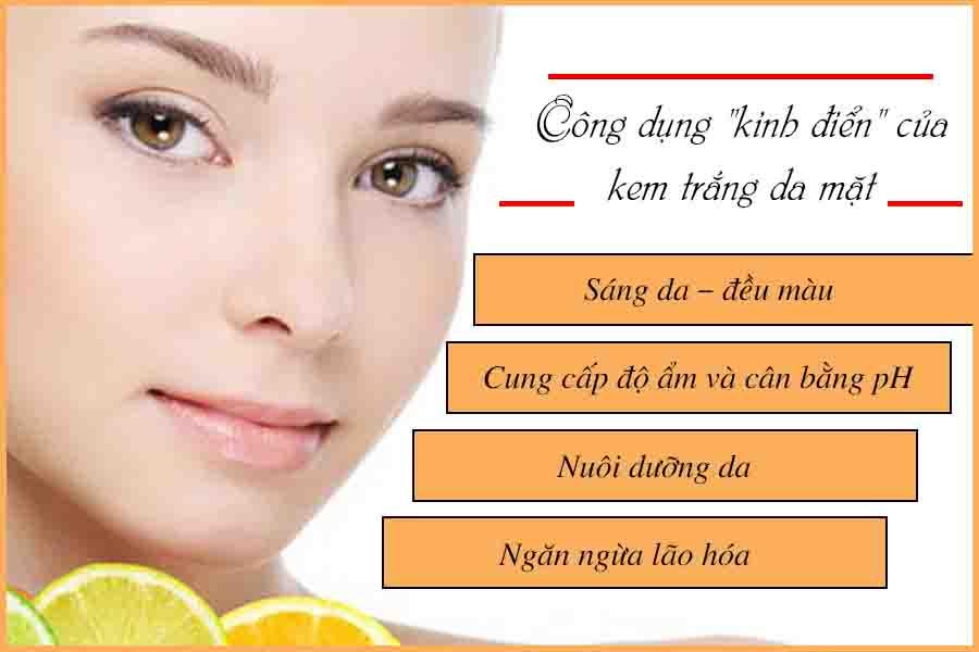 Công dụng kem dưỡng da mặt