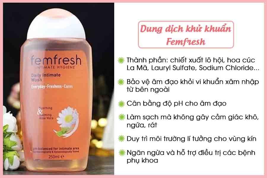 Dung dịch khử khuẩn Femfresh