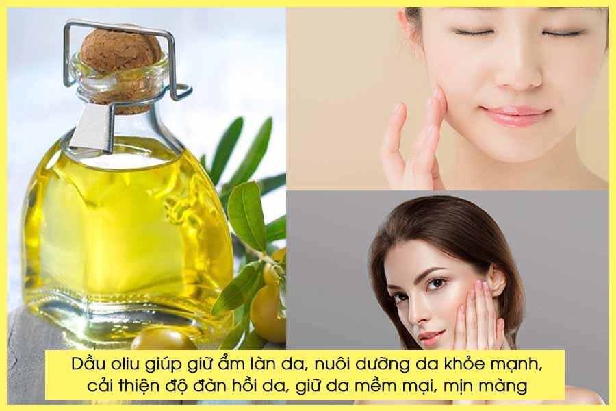 Dưỡng ẩm da mặt với dầu oliu