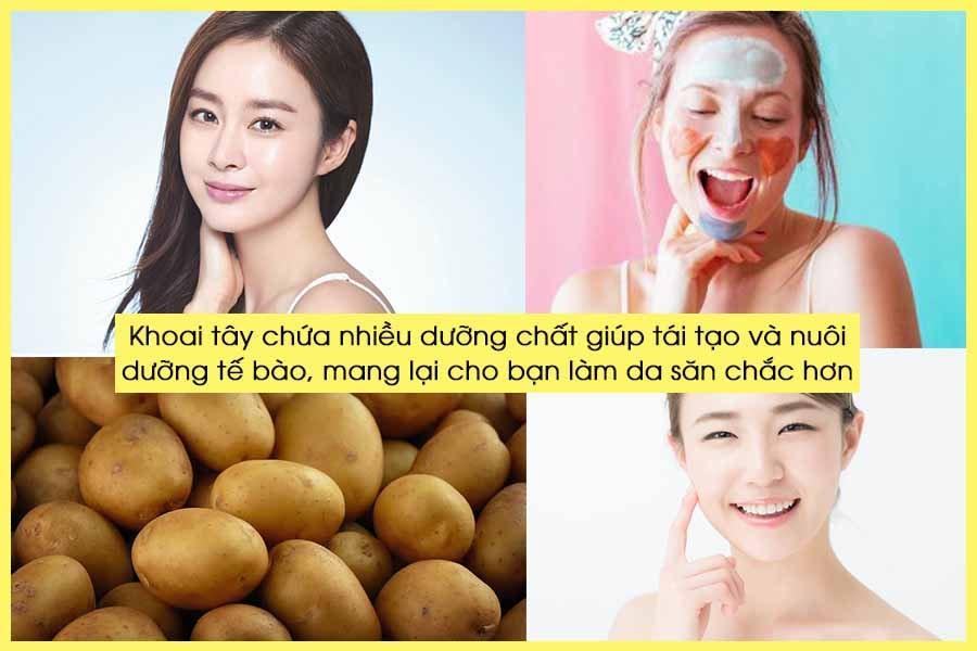 Làm sáng da tự nhiên với khoai tây