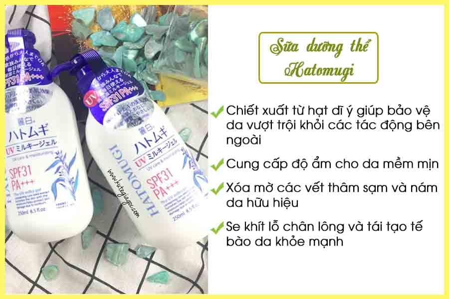 Sữa dưỡng thể trắng da Hatomugi