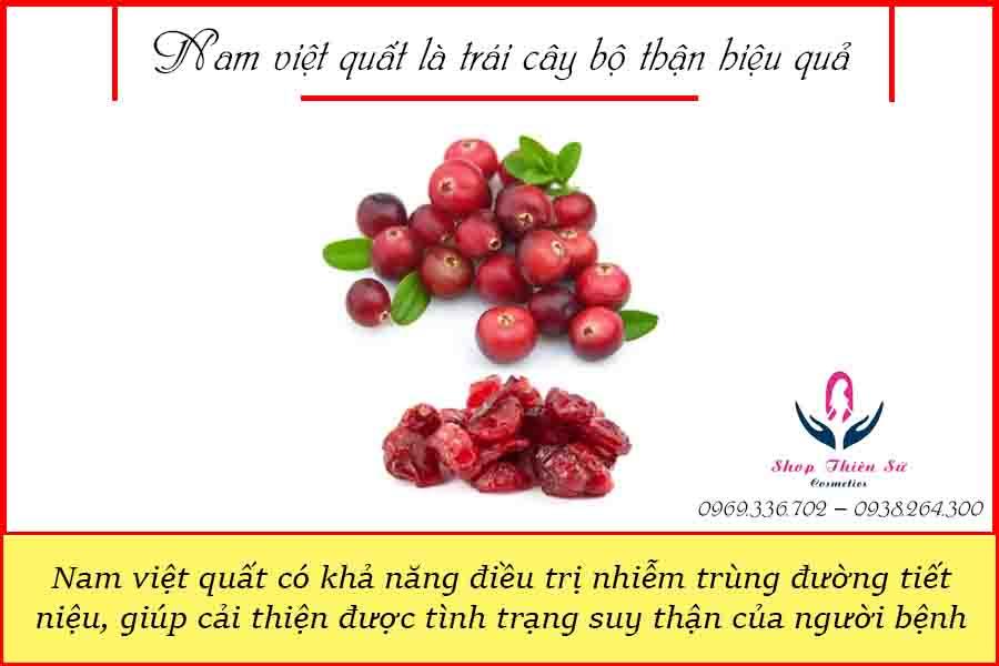 Nam việt quất là trái cây bổ thận