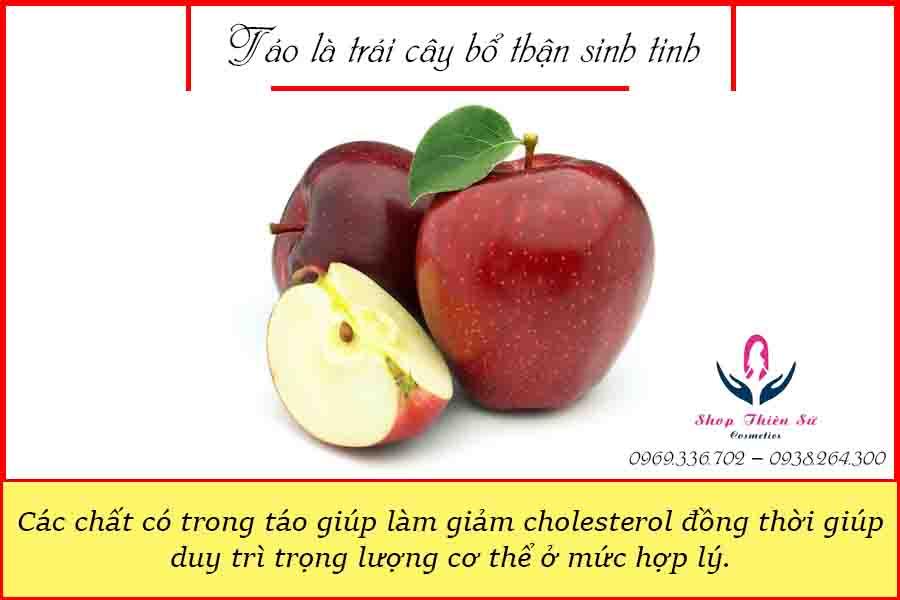 Táo là trái cây bổ thận sinh tinh