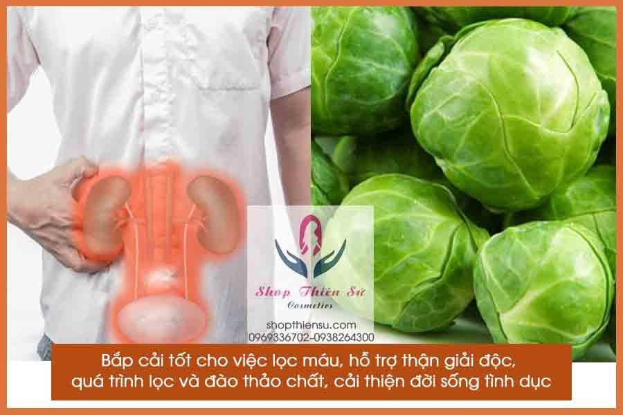 Thực phẩm bổ thận bắp cải