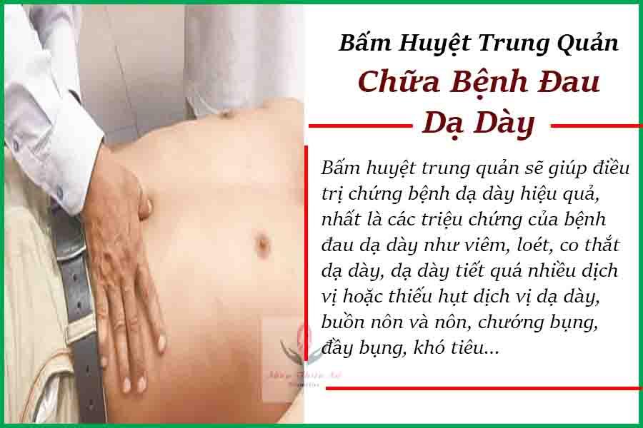 Bấm huyệt trung quản trị đau dạ dày