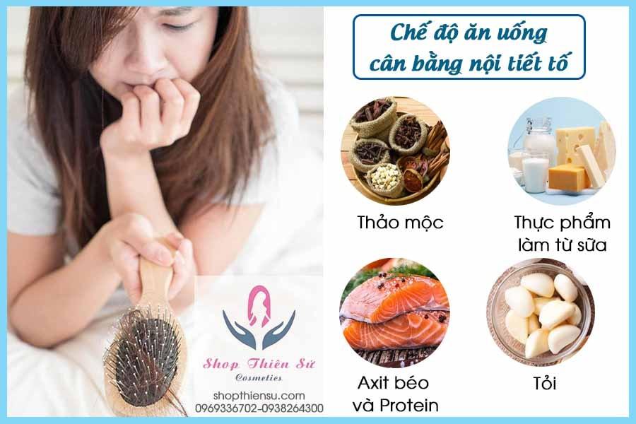 Chế độ ăn cải thiện rối loạn nội tiết gây rụng tóc