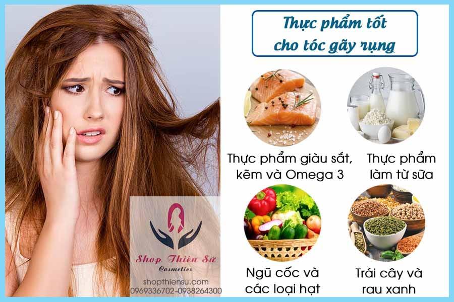 Thực phẩm tốt cho tóc gãy rụng