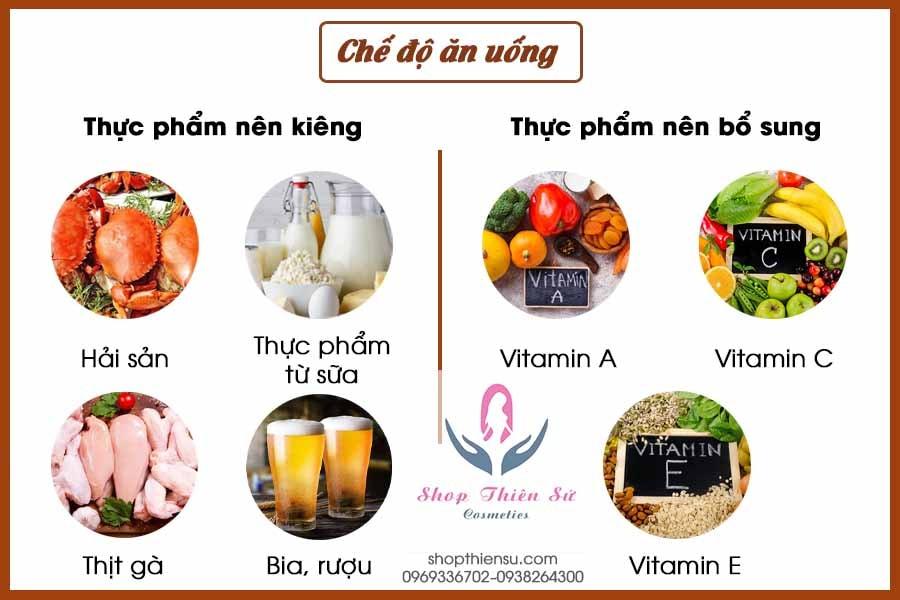 Chế độ ăn uống khi bệnh hắc lào ở mông