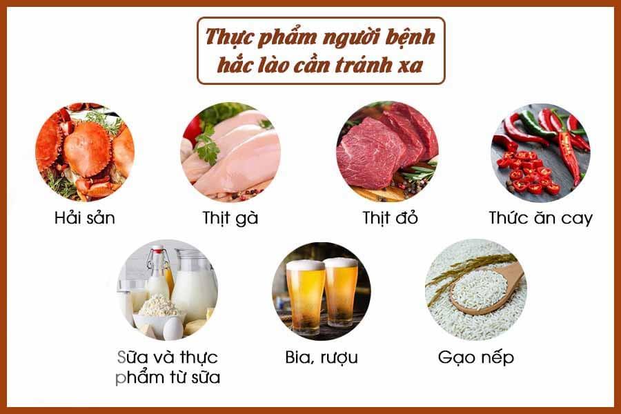 Thực phẩm cần kiêng khi bệnh hắc lào