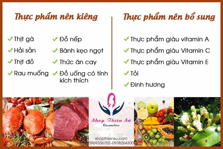 Chế độ ăn uống khi bị lác đồng tiền ở chân