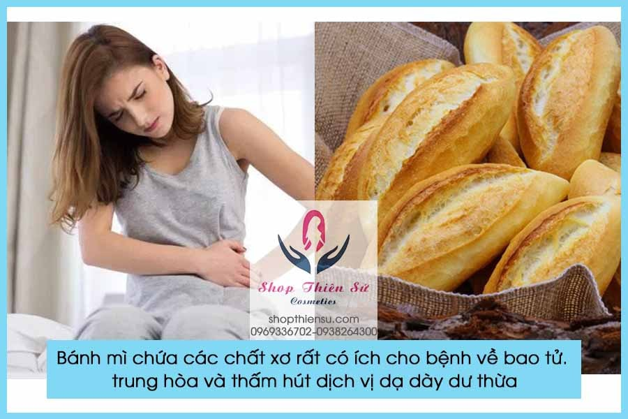 Đau bao tử buồn nôn nên ăn bánh mì