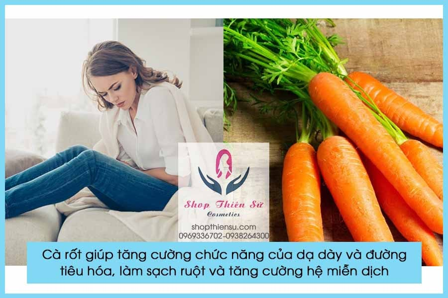 Đau bao tử buồn nôn nên ăn cà rốt
