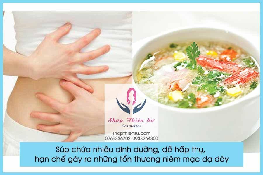 Đau bao tử buồn nôn nên ăn súp