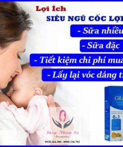 Lợi ích siêu ngũ cốc lợi sữa