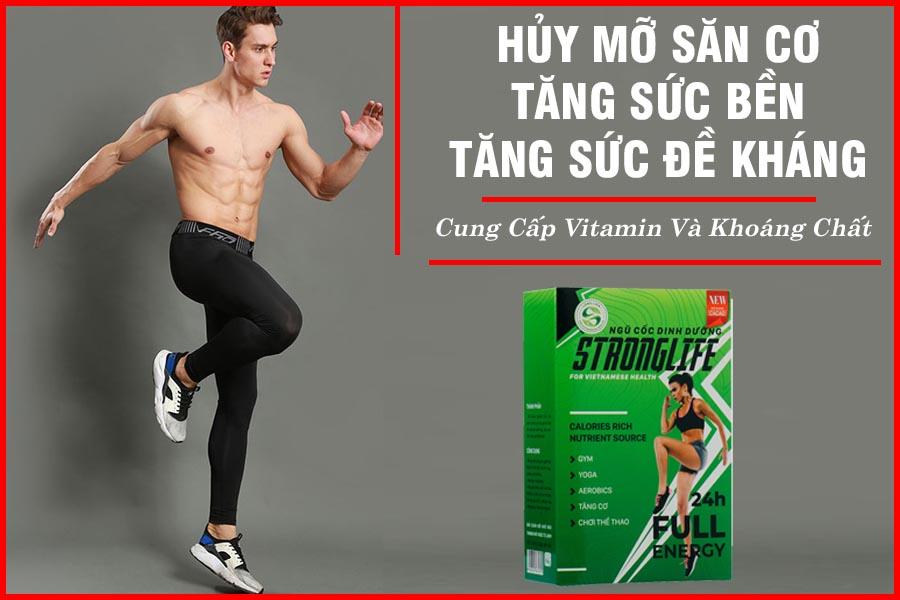 Bột ngũ cốc dinh dưỡng StrongLife Long Liên