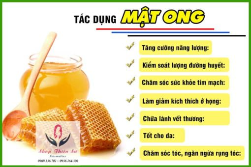 Tác dụng của mật ong