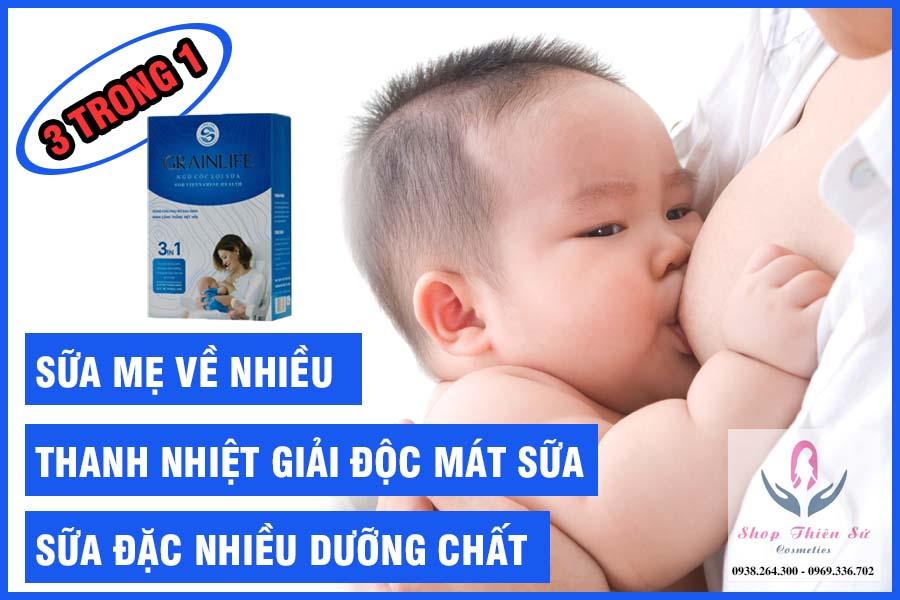 Tác dụng ngũ cốc lợi sữa 3in1