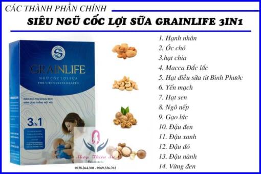 Thành phần siêu ngũ cốc lợi sữa Grainlife 3in1