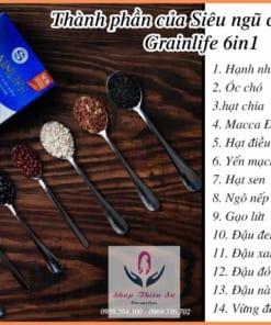 Thành phần Siêu ngũ cốc lợi sữa Grainlife 6in1