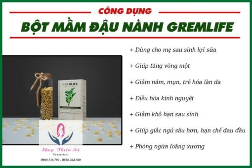 Công dụng bột mầm đậu nành GremLife