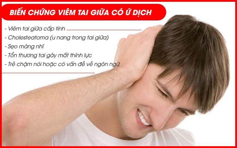 Biến chứng viêm tai giữa ứ dịch