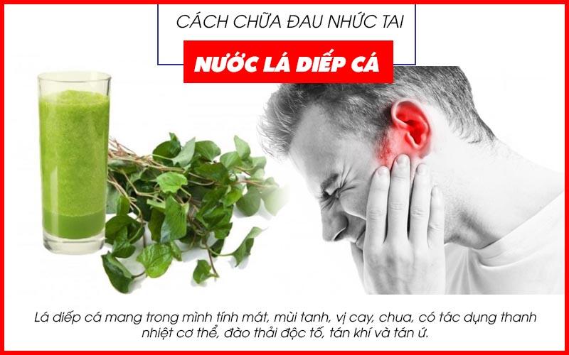 Cách chữa đau nhức tai bằng nước lá diếp cá