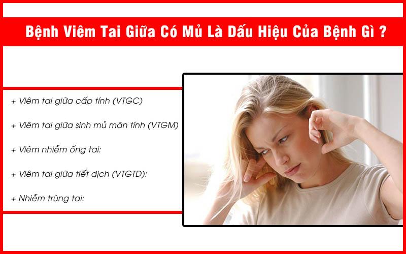 Viêm tai giữa có mủ là dấu hiệu bệnh gì